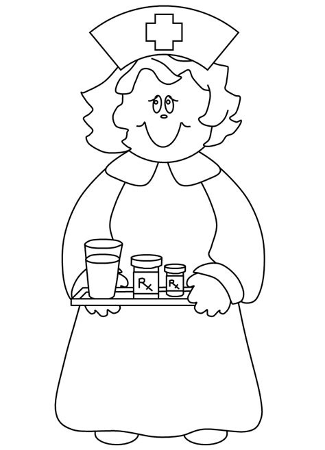 coloring page nurse hat printable nurse hat coloring doctor day coloring pages