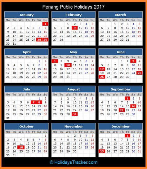 malaysia calendar 2017 penang malaysia public holidays 2017 holidays tracker