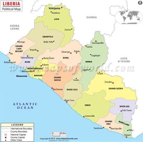 www th liberia com cities in liberia map of liberia map with cities
