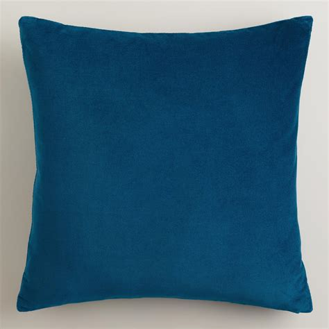 blue throw pillows for couch night blue velvet throw pillows world market