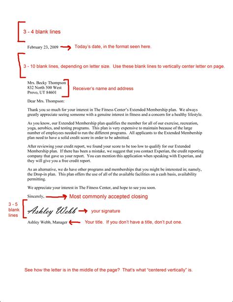 professional business letter template best photos of professional business letter format