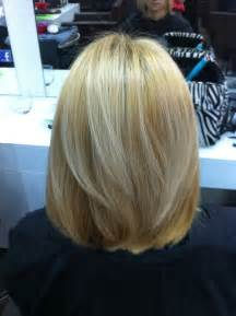 back view of mid length hair bob hair after haircut i did a one length shoulder bob with