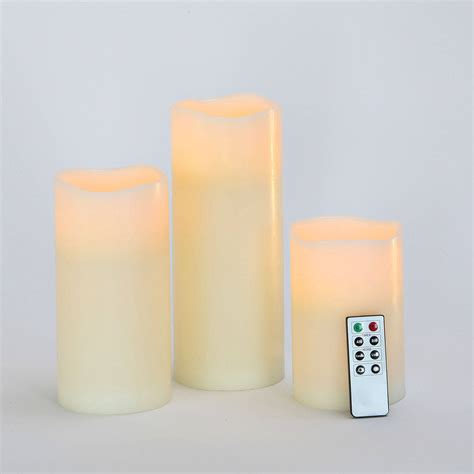 Large Flameless Candles With Remote by Lights Flameless Candles Pillar Candles Large