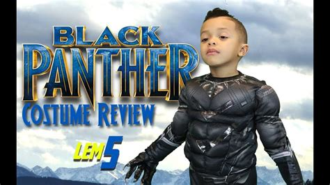black panthers costume  challa suit toy review