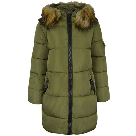 Womens Quilted Winter Coats by Womens Quilted Winter Coat Padded Puffer Fur