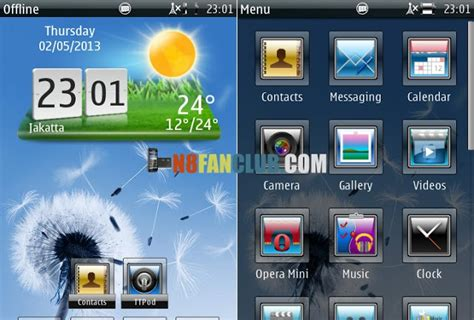 themes download sisx dandelion theme 1 0 for nokia n8 belle smartphones
