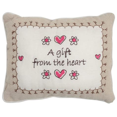 Pillow Gift Message by Sentiments Keepsake Embroidered Linen Gift Message Cushion
