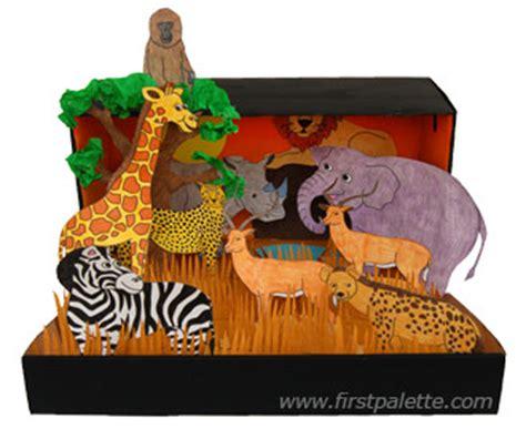 printable giraffe diorama african savanna habitat diorama craft kids crafts