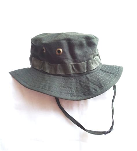 Topi Rimba Jaring Coklat Tua jual topi rimba hijau polos niyansuri
