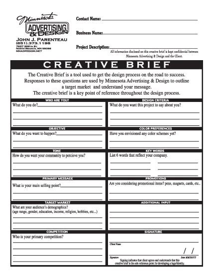 19 best images about creative brief examples on pinterest