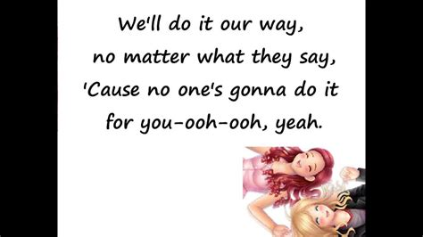 cat song lyrics sam and cat just lyrics theme song