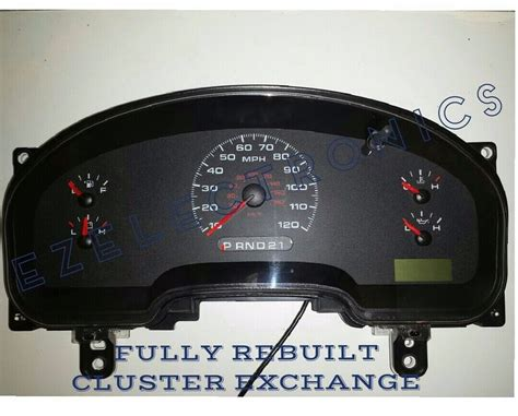 how it works cars 2004 ford e250 instrument cluster 2006 ford f150 pickup instrument cluster quot exchange xl stx 6l34 10849 gd ge ebay
