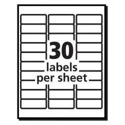 Avery Labels 8160 Template by Return Address Labels Template 30 Per Sheet Best
