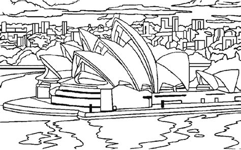 coloring page of sydney opera house pin coloring page sydney opera house img 22382 on pinterest