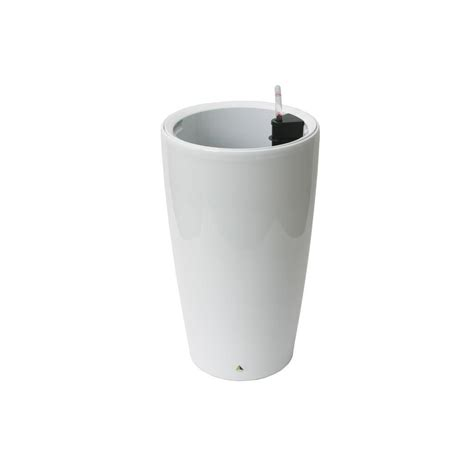 White Planters Home Depot by Algreen Modena 22 In White Self Watering Plastic Planter 22404 The Home Depot