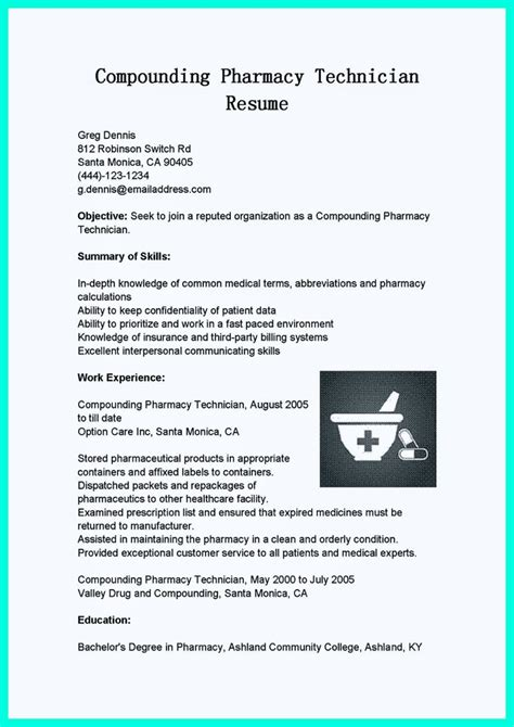 med tech resume sle what objectives to mention in certified pharmacy