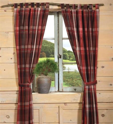 Country Plaid Kitchen Curtains Country Plaid Curtains Teawing Co