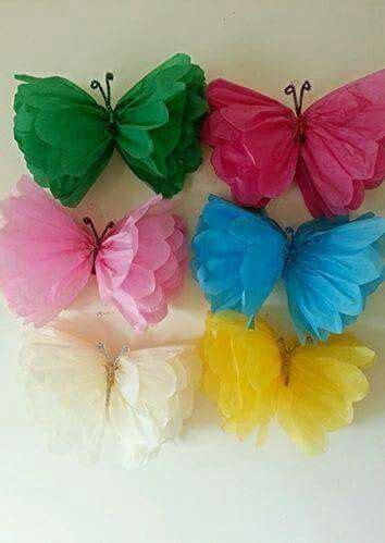 How To Make A Butterfly With Tissue Paper - tissue paper butterflies pinteres