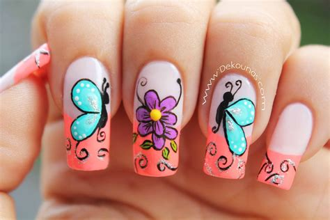 fotos uñas decoradas gratis im 225 genes de u 241 as decoradas con mariposas descargar