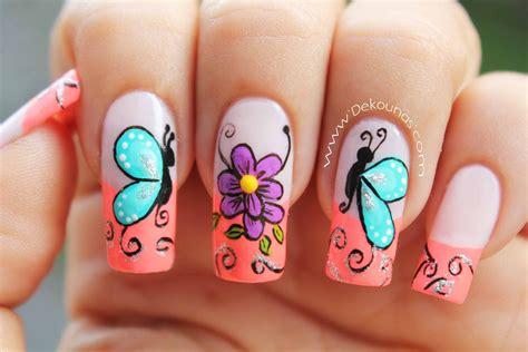 imagenes con mariposas bonitas im 225 genes de u 241 as decoradas con mariposas descargar