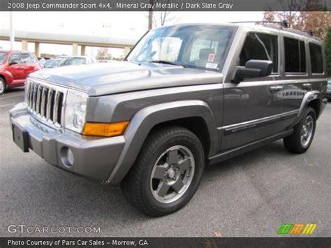 Gray Jeep Commander Mineral Gray Metallic 2008 Jeep Commander Sport 4x4