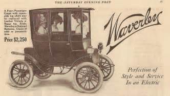 Vintage Electric Car Ads In Early 1900s Electric Vehicle Market In Us Was 37