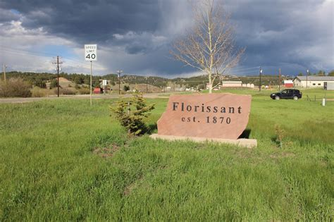 Flower Beds Around House Florissant Colorado Teller County Towns In Co