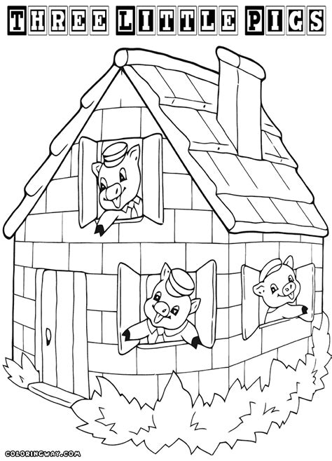 printable straw house house coloring page scary haunted free printable pages