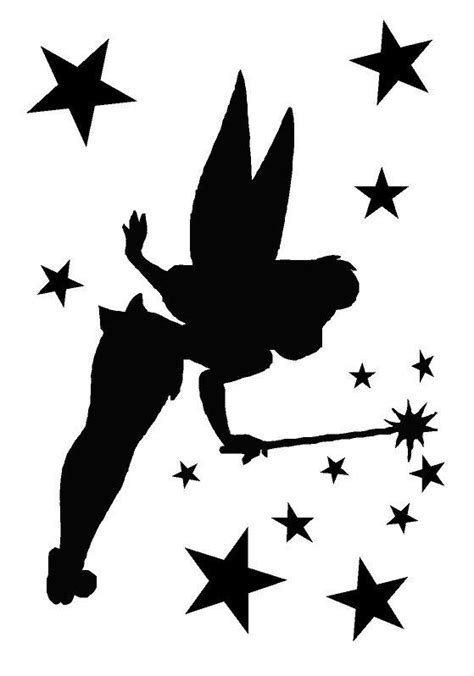 tinkerbell pumpkin carving templates tinkerbell 2 airbrush wall paint stencil genuine