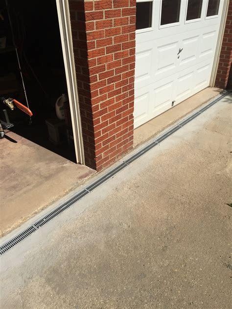 Drain In Front Of Garage Door Completed For S In Ellicott City Md