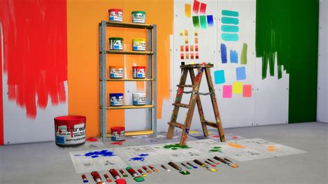Modern Wall Art Stickers it s all about clutter the diy painter set 8 215 2 wallpaper