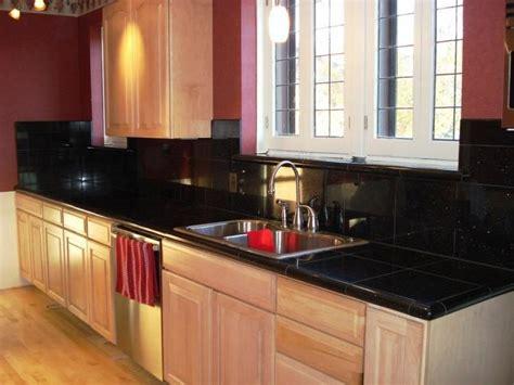 black tiles kitchen indelink com 10 glossy tiled kitchen countertops rilane