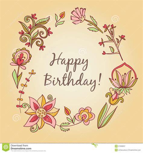 imagenes elegantes feliz cumpleaños tarjeta de felicitaci 243 n del feliz cumplea 241 os marco floral