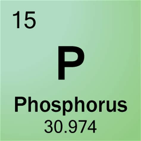 15 Periodic Table Name by 15 Phosphorus Element Cell Science Notes And Projects