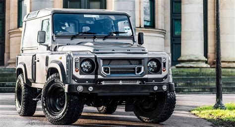 land rover defender 2016 khan a kahn design lr defender is manly beyond belief carscoops