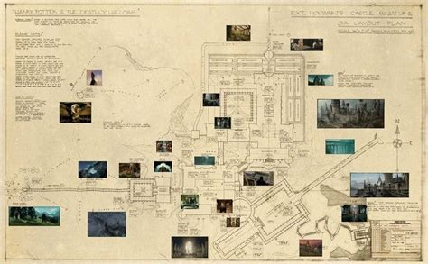 Map Of Hogwarts Castle All Floors by Detailed Map Of Hogwarts Maps Hogwarts And