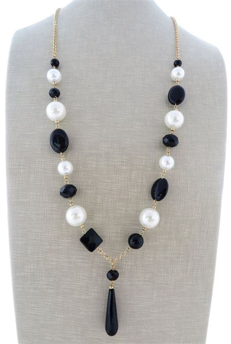 black and white bead necklace black and white pearl necklace 2istconf