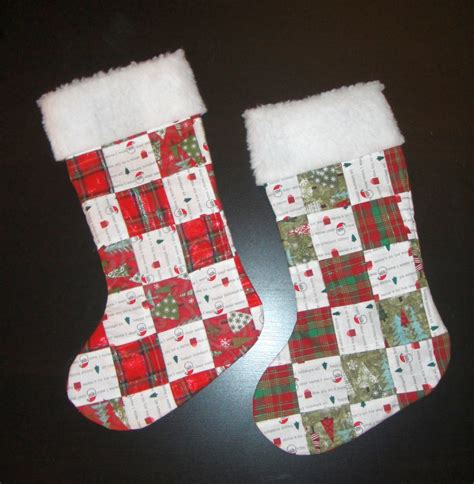 diy quilted christmas stocking rabit stew