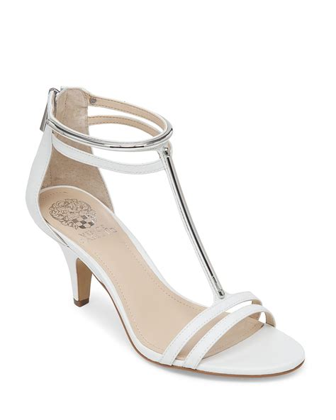 white heels sandals vince camuto sandals mitzy mid heel in white new ivory