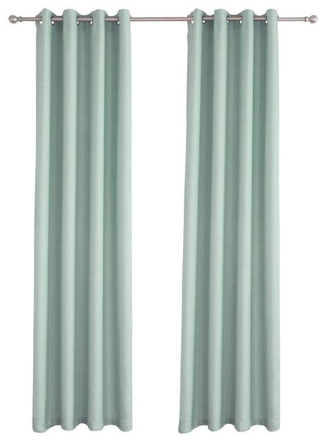 Sky Blue Curtains Solid Sky Blue Curtain 52in X 63in Contemporary Curtains By Qbedding