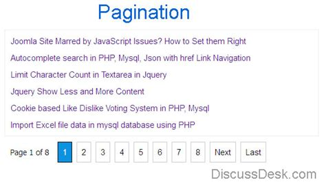 what is template in php pagination in php and mysql with exle