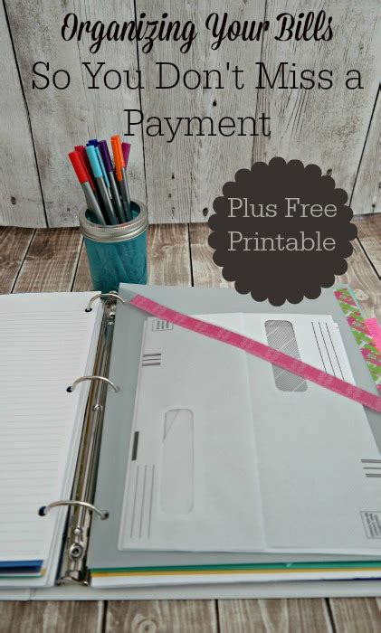 organize bills free organizing your bills binder printable free