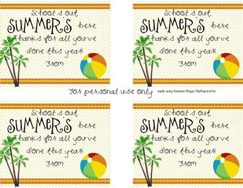 printable end of year gift tags end of the year teacher gift idea making memories with