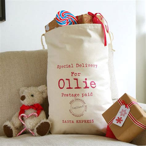 christmas personalised sack by tilliemint loves