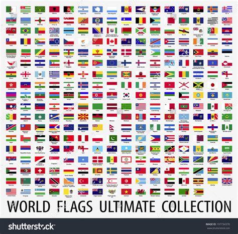 flags of the world vector flags vector world stockvektor 197734370 shutterstock