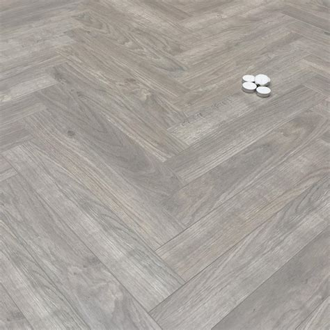 Prestige Herringbone Grey Oak 8mm Laminate Floor   Factory