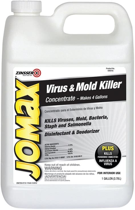jomax boat cleaner zinsser jomax virus and mold killer 1 gal bottle clear