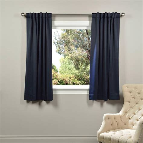 Blackout Navy Curtains Exclusive Fabrics Furnishings Semi Opaque Navy Blue Blackout Curtain 50 In W X 63 In L