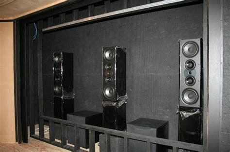 frame up with speakers home theater ideas