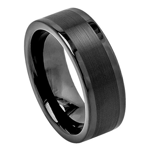 black tungsten mens wedding bands black tungsten carbide wedding band ring mens jewelry